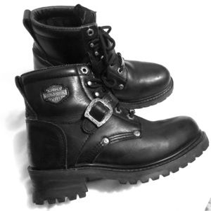 Harley-Davidson black leather motorcycle 🏍 boots